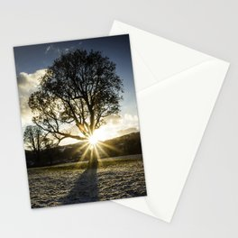 A Winters Sunset Stationery Cards
