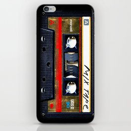 Retro cassette mix tape iPhone Skin
