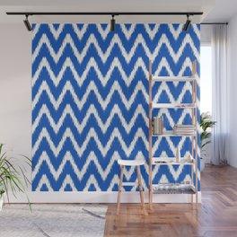 Sapphire Asian Moods Ikat Chevrons Wall Mural