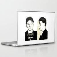 frank sinatra Laptop & iPad Skins featuring Frank Sinatra Mug Shot by Lauren Randalls ART