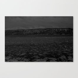 Ice on the Hudson Canvas Print