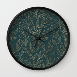 Botanical Pattern - Bronze N7 Wall Clock