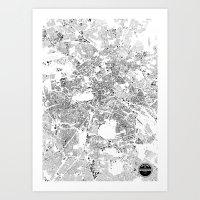 berlin Art Prints featuring BERLIN by Maps Factory