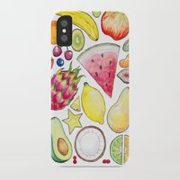 fruits iPhone & iPod Cases featuring Fruits by Hacklock
