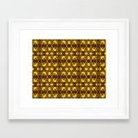 yellow pattern Framed Art Prints featuring yellow pattern by dedoma