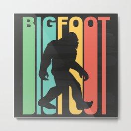 Retro Bigfoot Metal Print