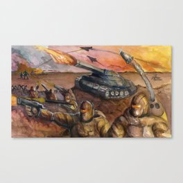 In The Crossfire Canvas Print