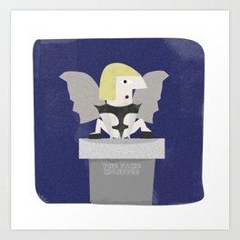 Lady Gagoyle Art Print
