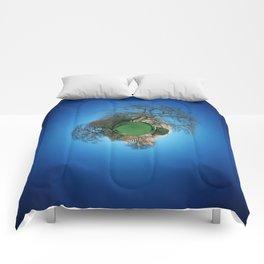 Tiny Planet 3 - City Limits Comforters
