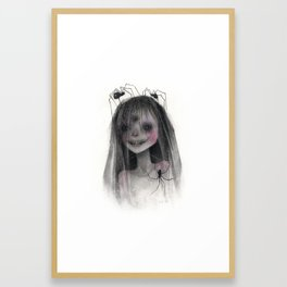 Spider Bride Framed Art Print