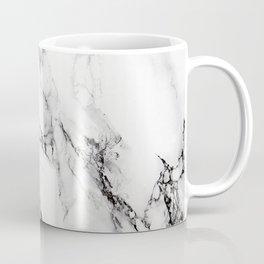 White Faux Marble Texture Coffee Mug