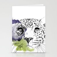 cheetah Stationery Cards featuring Cheetah by zoza