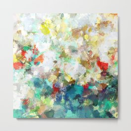 Spring Abstract Painting Metal Print