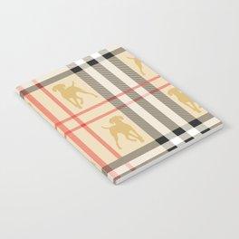 WEIMARANERS AND BEIGE PLAID Notebook