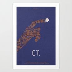 E.T. Fan Poster Art Print