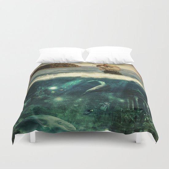 Water World Fantasy Scenery  Duvet Cover