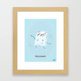 Milkshake Framed Art Print