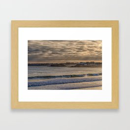 Sunbeams at Cape Hedge Beach Framed Art Print