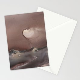 Moon Glow over Mountains Stationery Cards