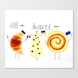 eat and travel Canvas Print
