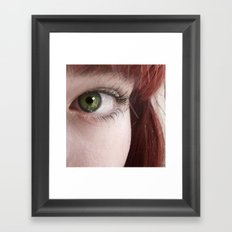 Green and Red Framed Art Print
