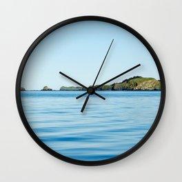 Island on the Horizon Photography Print Wall Clock