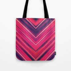 Modern Red / Black Stripe Abstract Stream Lines Texture Design (Symmetric edition) Tote Bag