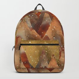 Abstract Copper Christmas Winter Mountain Dreamscape Backpack