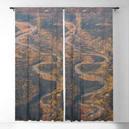 Autumn River Blackout Curtain