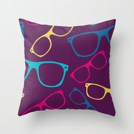 glasses Seamless pattern retro sunglasses Throw Pillow