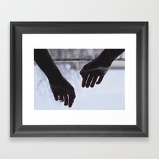 Your morning touch Framed Art Print