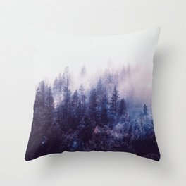 Misty Space Throw Pillow