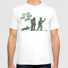 It's Not Easy Being Green MEDIUM White Mens Fitted Tee