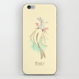 The big fish eat the small ones iPhone Skin