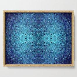 Deep blue glass mosaic Serving Tray