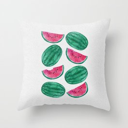 Watermelon Crowd Throw Pillow