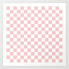 Gingham Pink Blush Rose Quartz Checked Pattern Art Print