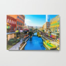Riverwalk Canal by Monique Ortman Metal Print