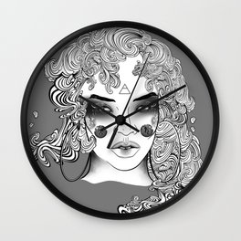 Extra Terrestrial Aquarius Goddess Wall Clock