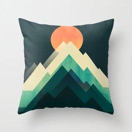Ablaze on cold mountain Throw Pillow