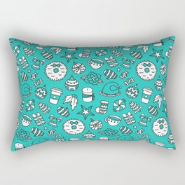 PRETTY LITTLE CHRISTMAS THINGS - Turquoise Rectangular Pillow