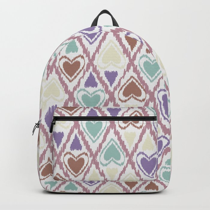 Favorite pattern . Brown and purple . Backpack