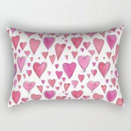 Watercolor My Heart (Small) by Deirdre J Designs Rectangular Pillow