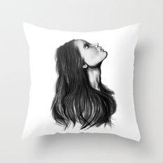 Harmony // Fashion Illustration Throw Pillow