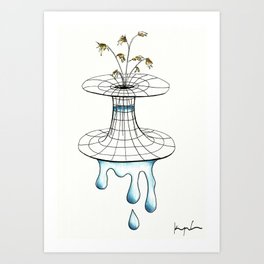 worm vase Art Print