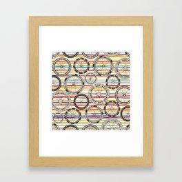 bike wheels stripe Framed Art Print