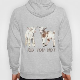 I Kid You Not: Baby Goat Watercolor Illustration Hoody