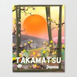 Takamatsu japan travel poster Canvas Print