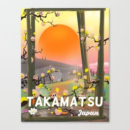 Takamatsu japan travel poster Canvas Print