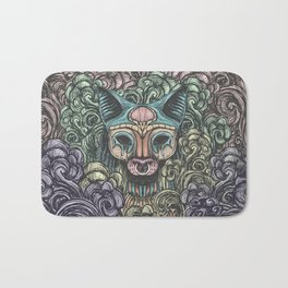 Bastet on the field Bath Mat
